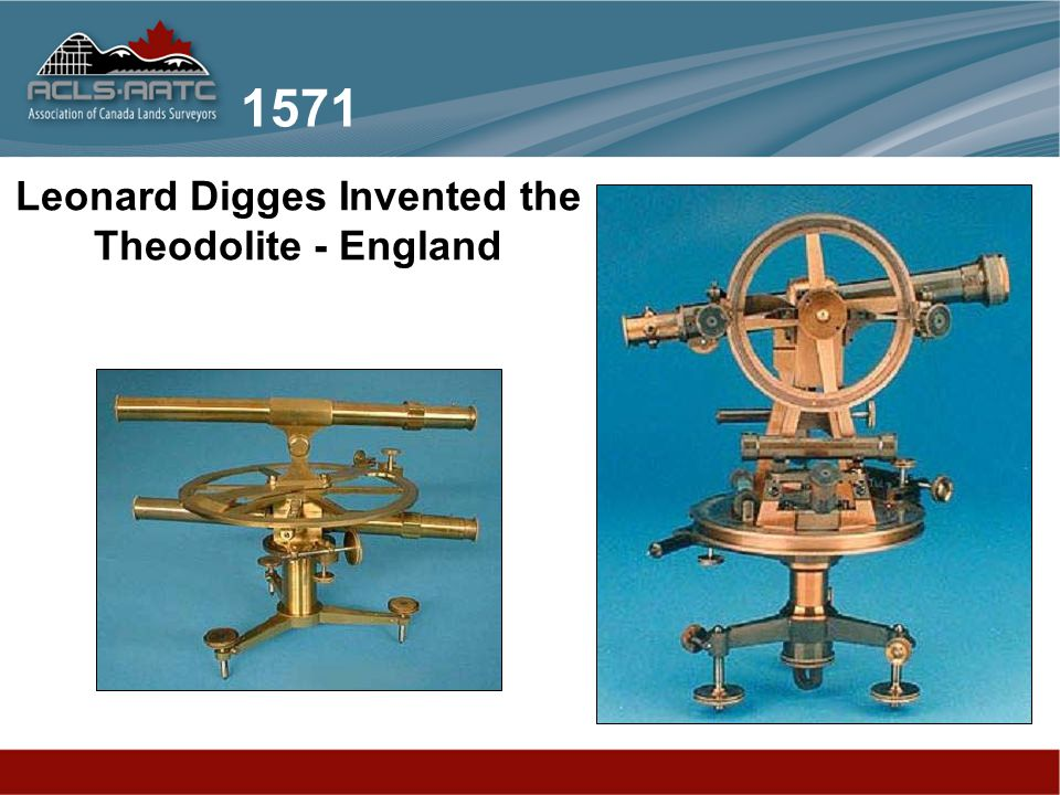 Leonard Digges Invented the Theodolite - England 1571