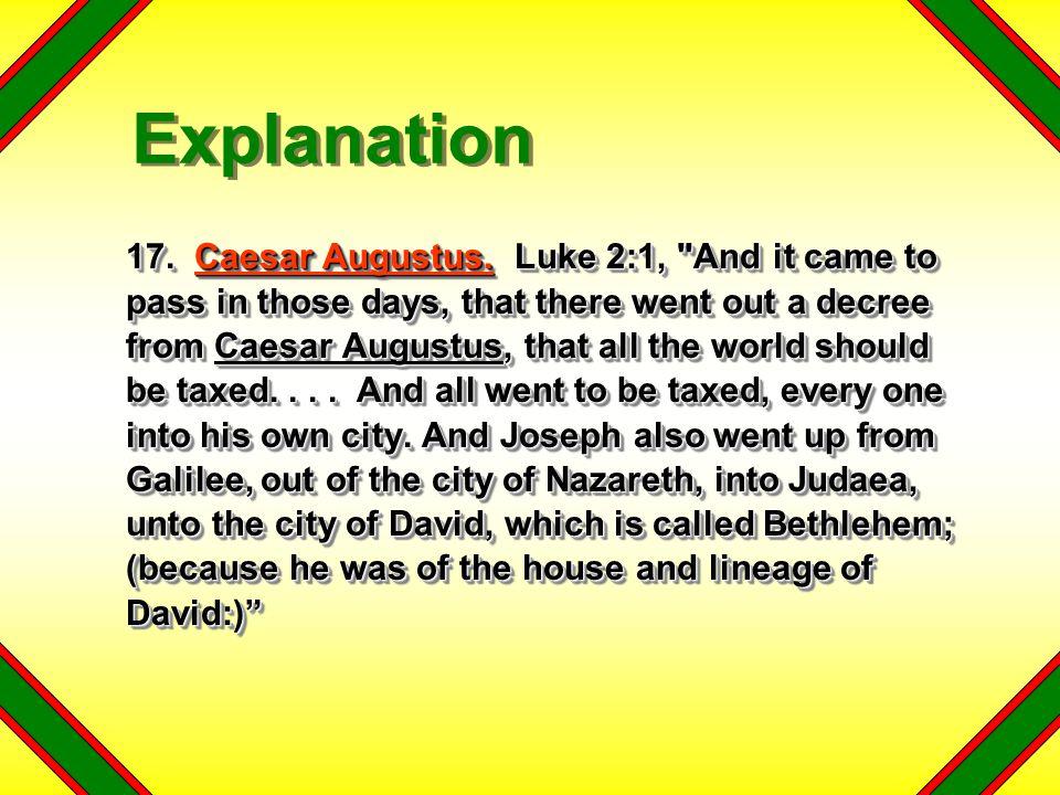 17.Caesar Augustus.