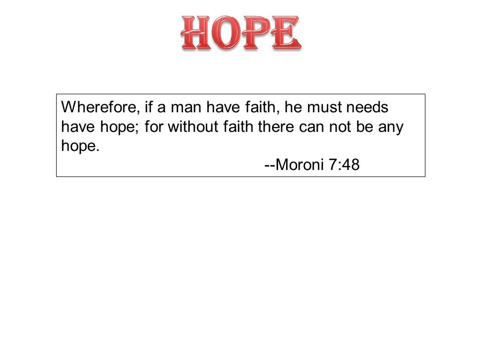 HOPE FAITH UNBELIEF DESPAIR 1 Object 1 has no peace or rest.