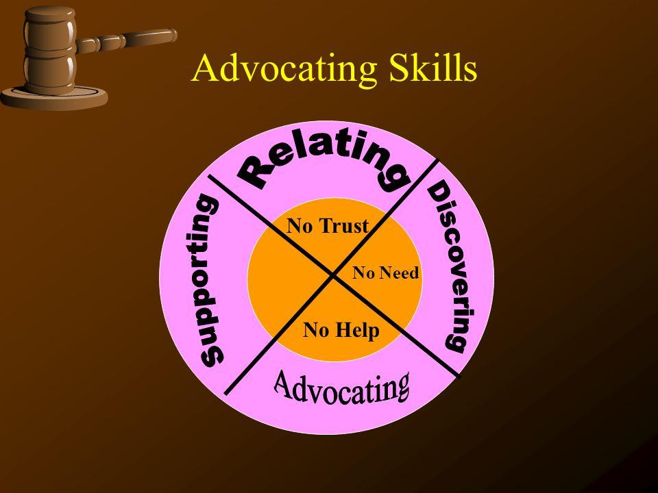 Advocating Skills No Trust No Need No Help