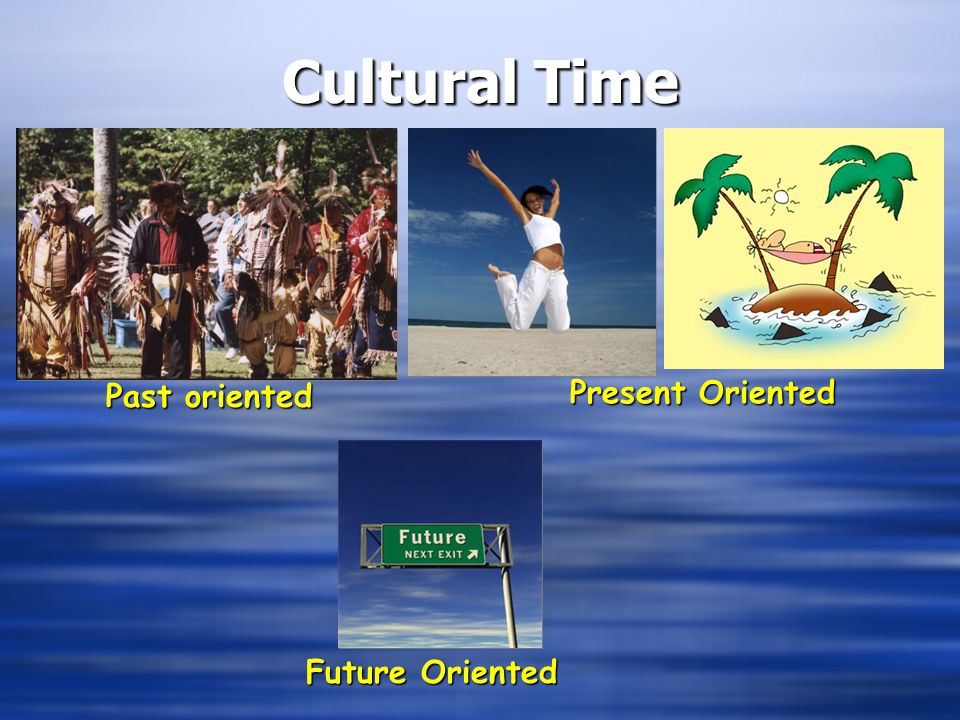 Cultural Time Past oriented Present Oriented Future Oriented