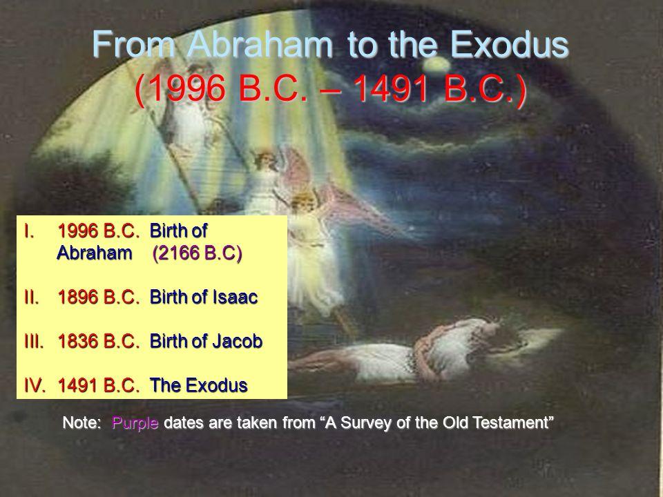 From Abraham to the Exodus (1996 B.C. – 1491 B.C.) I.1996 B.C.