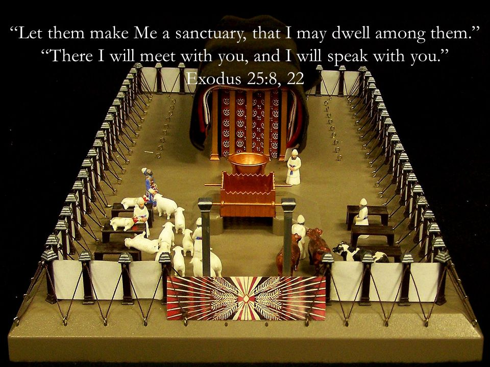 Let them make Me a sanctuary, that I may dwell among them. There I will meet with you, and I will speak with you. Exodus 25:8, 22