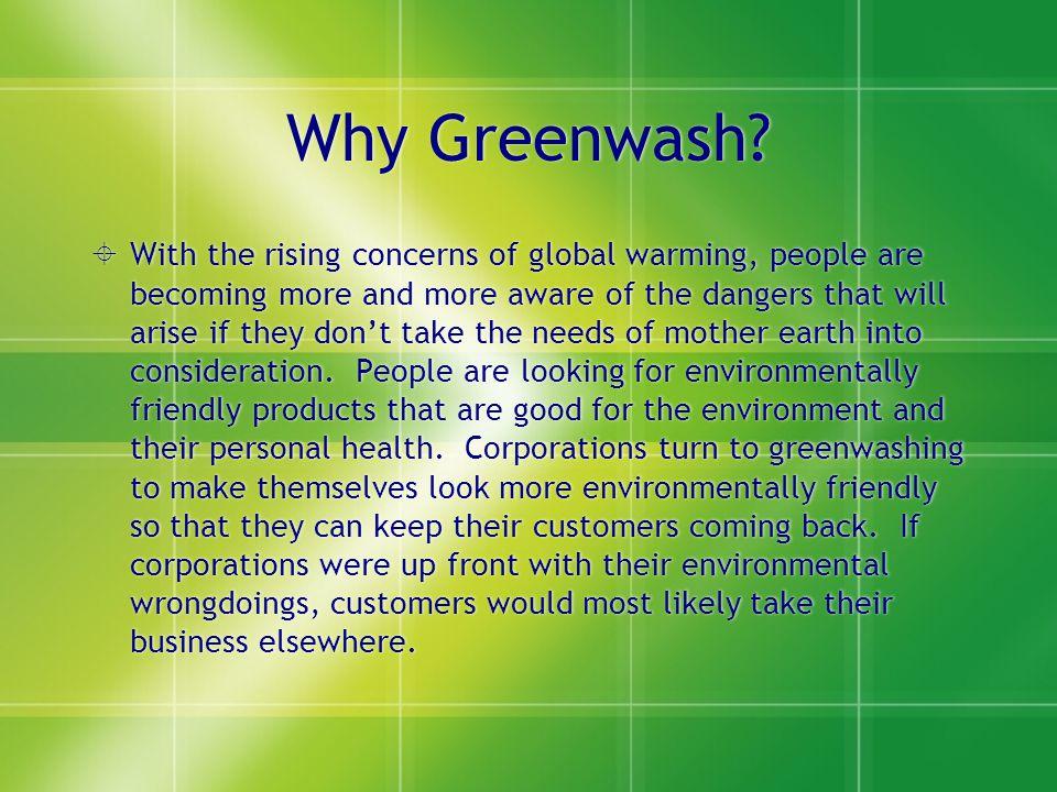 Why Greenwash.