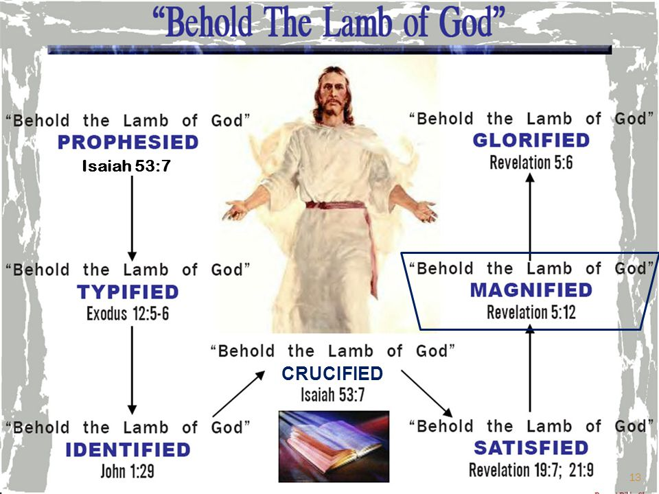 CRUCIFIED Isaiah 53:7 13