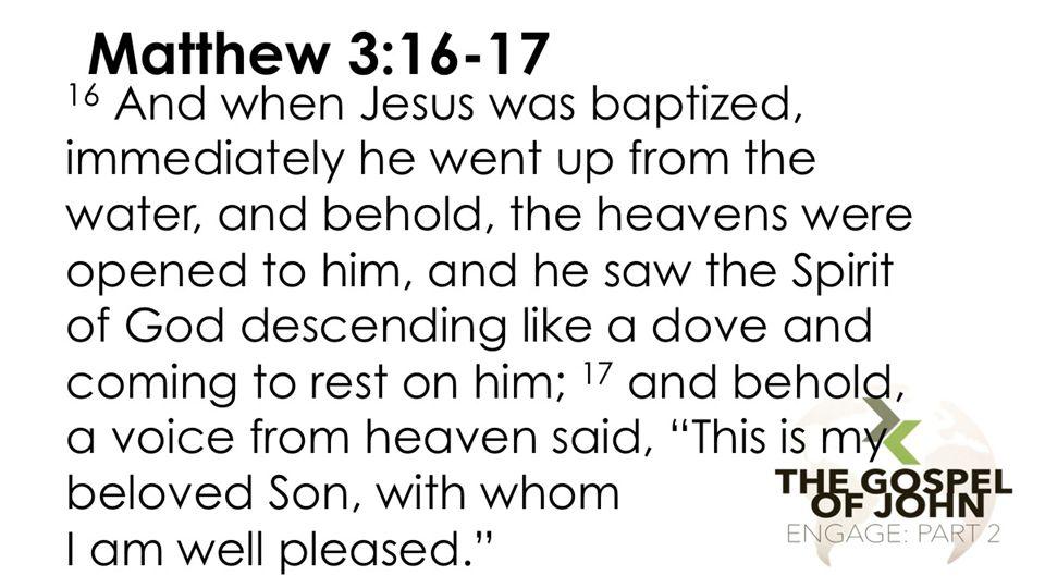 Timeline Day 1 John baptizes Jesus – Mt.3:13-17 Day 2 Jesus is tested – Mt.