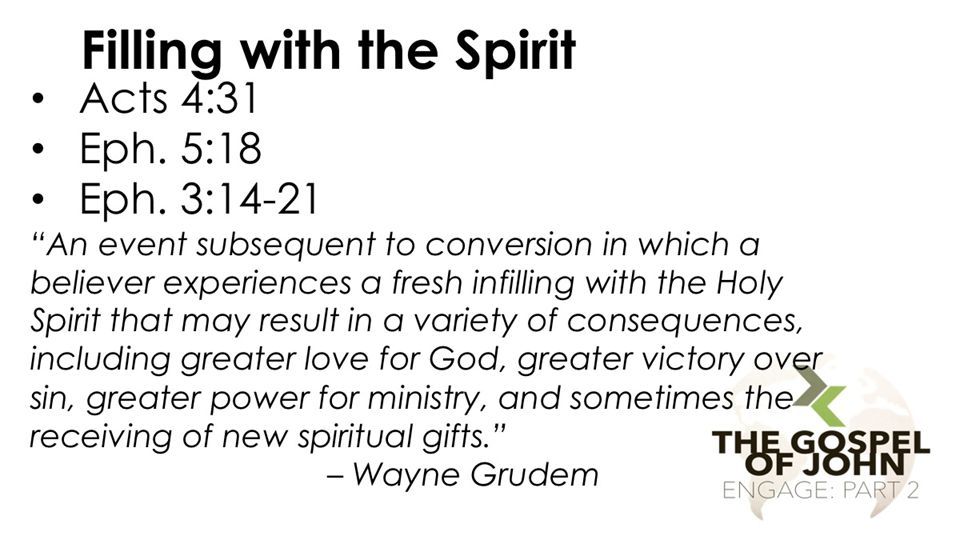 Filling with the Spirit Acts 4:31 Eph. 5:18 Eph.