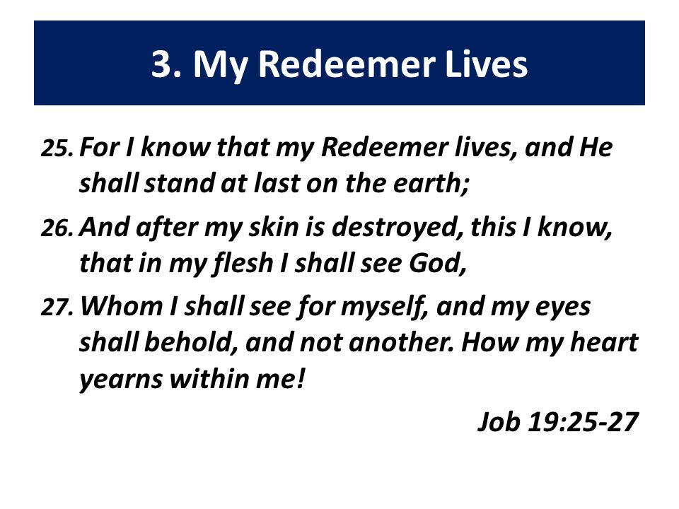 3. My Redeemer Lives 25.