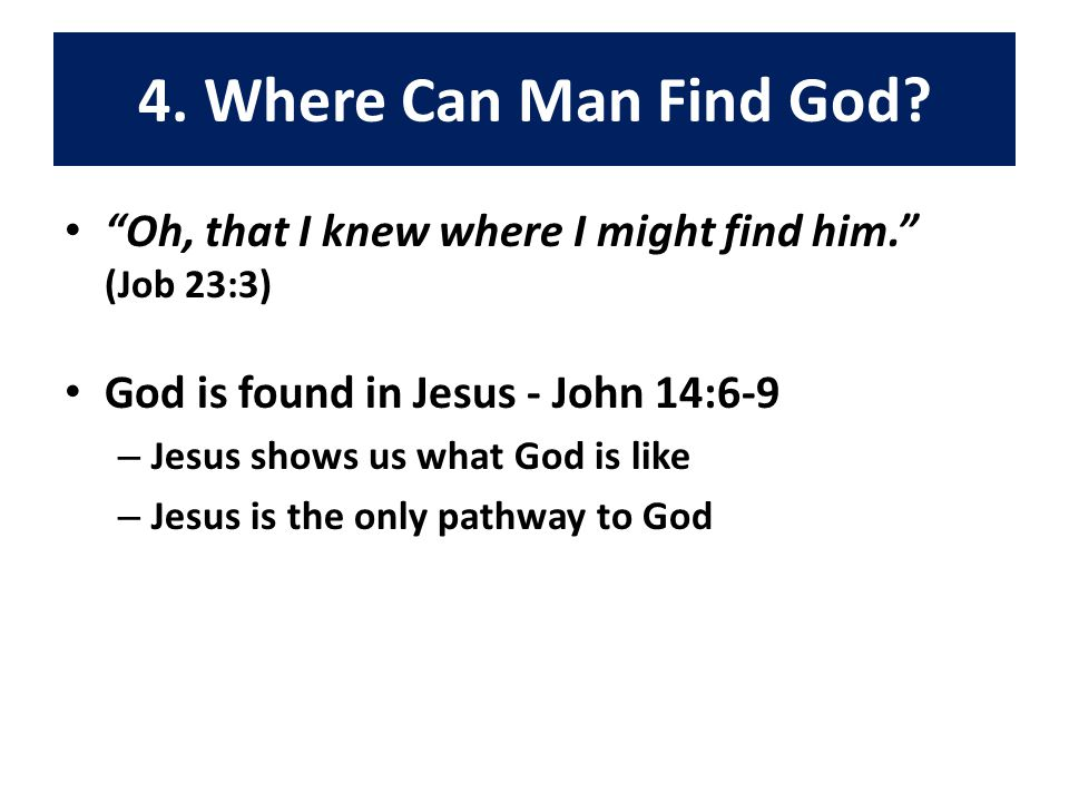 4. Where Can Man Find God.