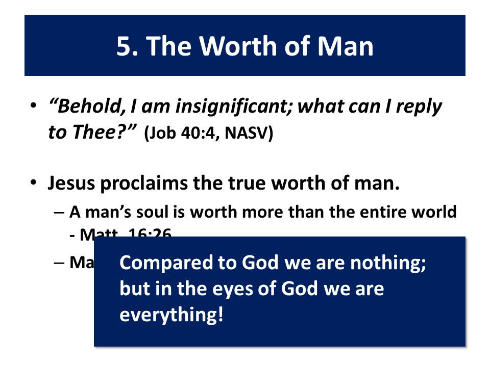 Like Job, we have many questions.Is there a mediator between God and man.