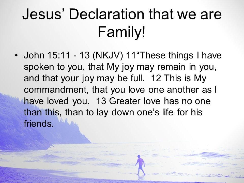 Jesus' Call to Discipleship or Conditioning John 15:14 - 16 (NKJV) 14 You are My friends if you do whatever I command you.