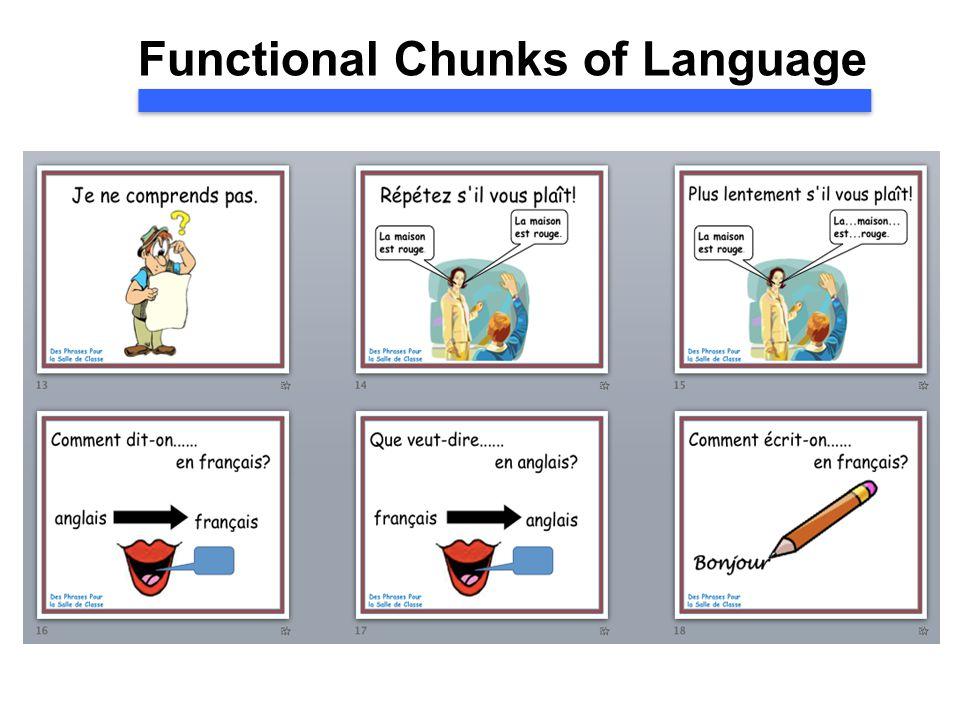 Functional Chunks of Language