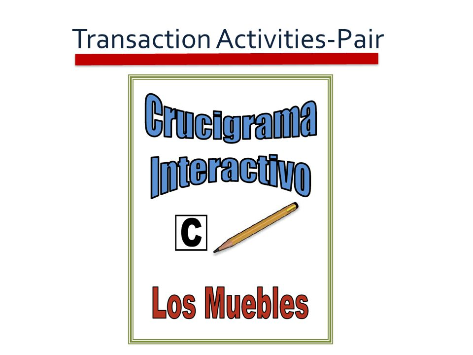 Transaction Activities-Pair