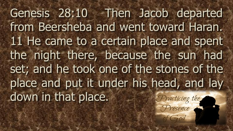 Genesis 28:10 Then Jacob departed from Beersheba and went toward Haran.