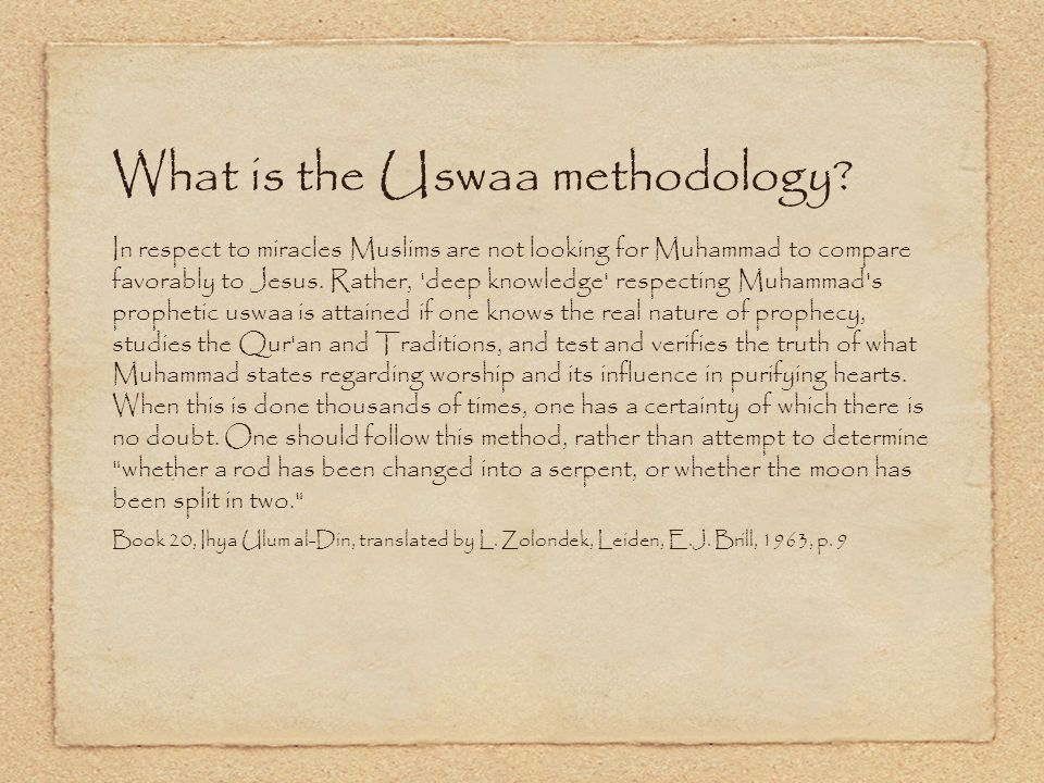 What is the Uswaa methodology.