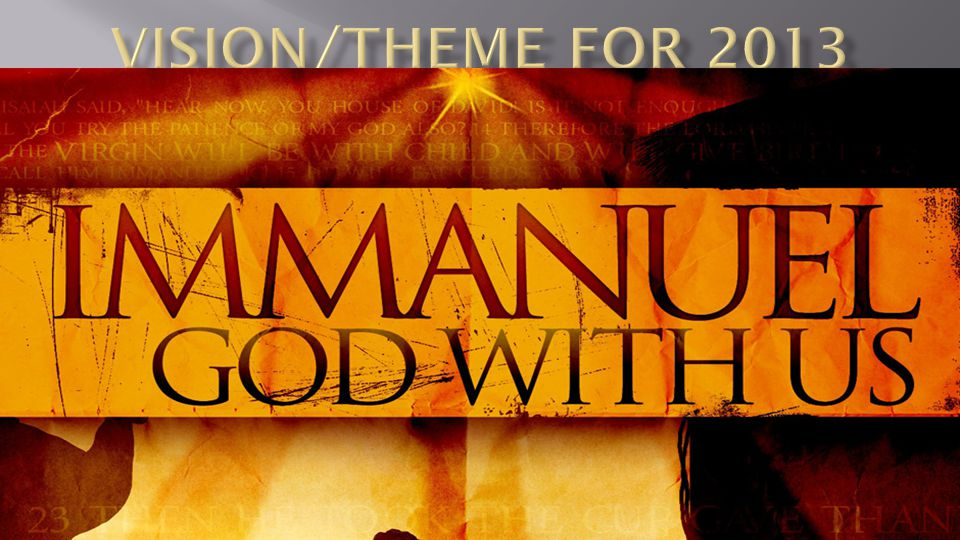 Immanuel GOD WITH US!