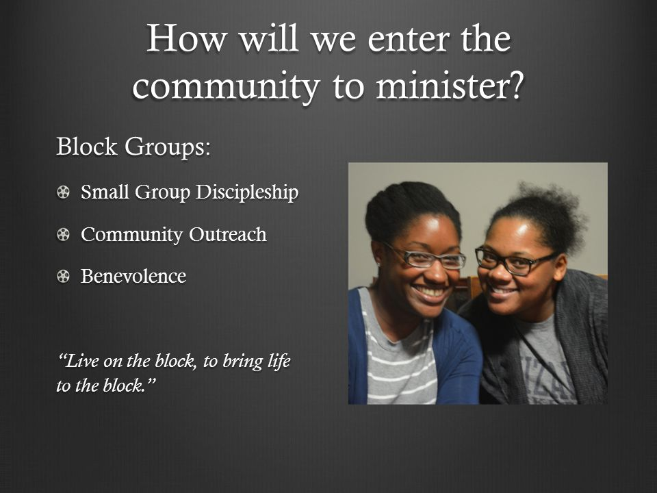 How will we enter the community to minister.