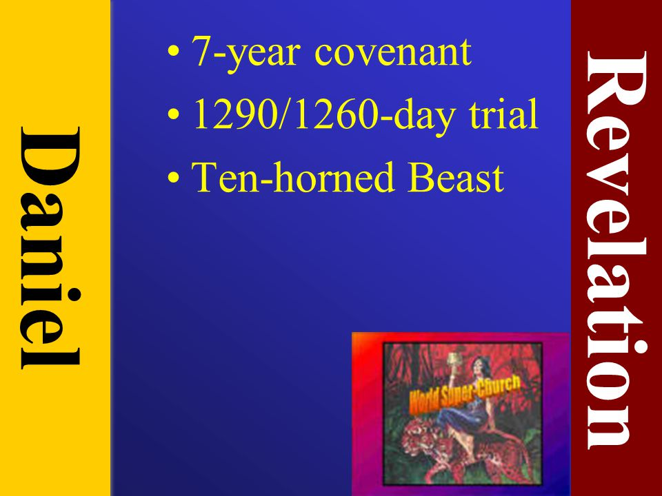 7-year covenant 1290/1260-day trial Ten-horned Beast Revelation Daniel