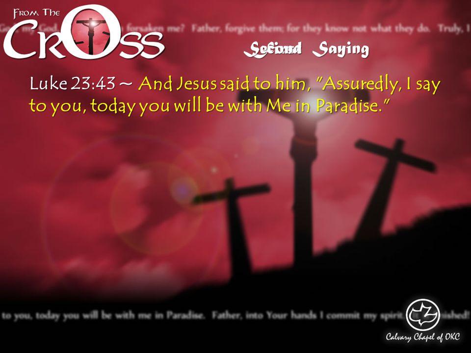 Luke 16:19-31 Saying Second Hades / Sheol Abraham's Bosom Place of Torment