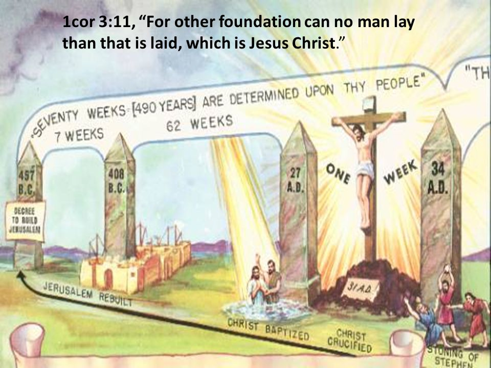 1cor 3:11, For other foundation can no man lay than that is laid, which is Jesus Christ.