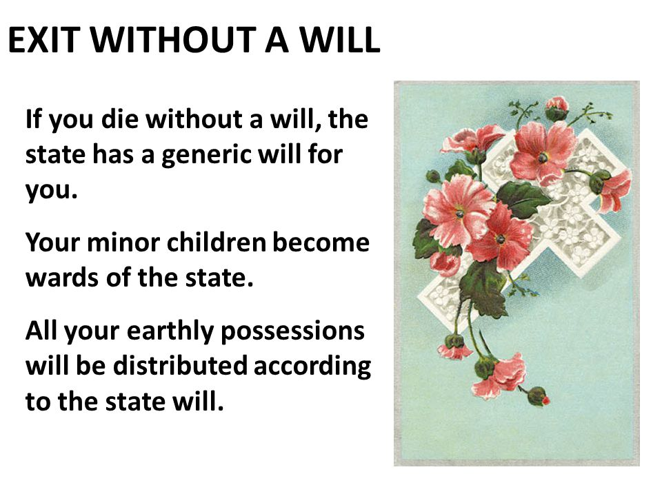 Why Do I Need a Will? I Don't Have Anything!