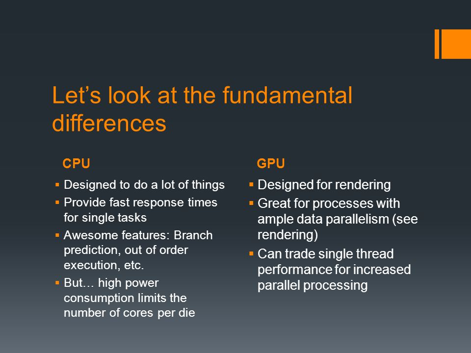 CPUGPU How do they handle parallelism.