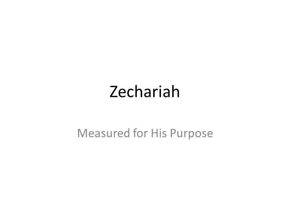 Zechariah Measured for His Purpose