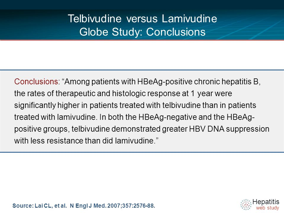 Hepatitis web study Source: Lai CL, et al. N Engl J Med.
