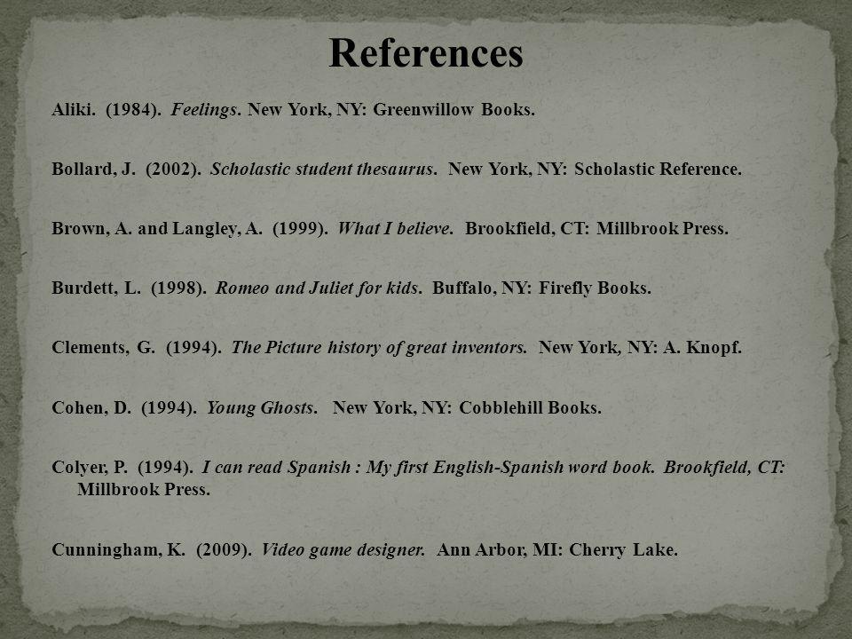 Aliki. (1984). Feelings. New York, NY: Greenwillow Books.