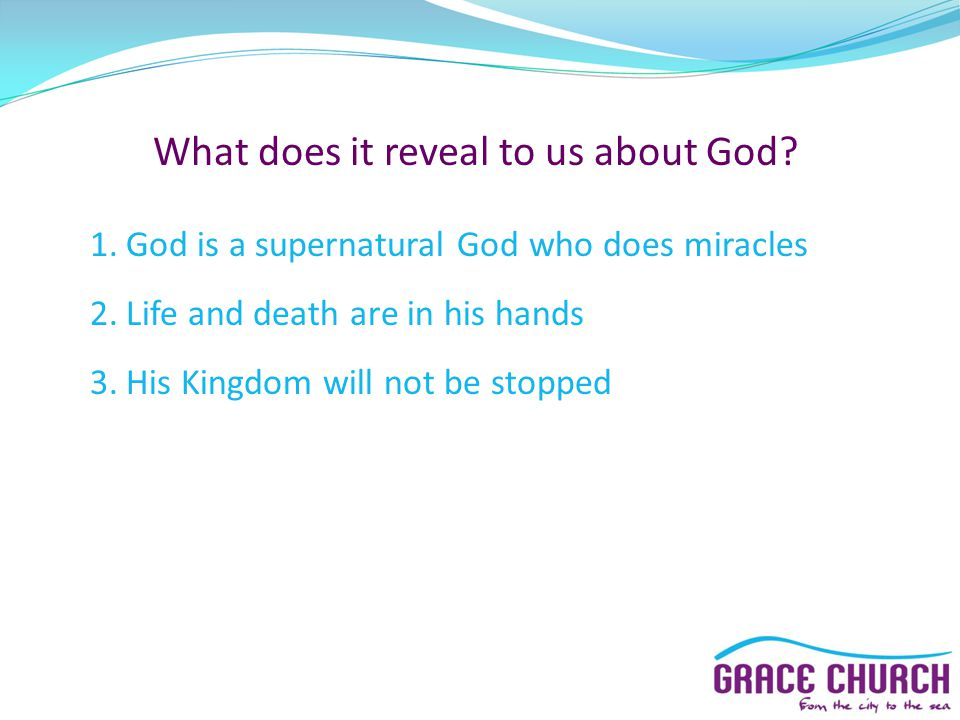What does it reveal to us about God.