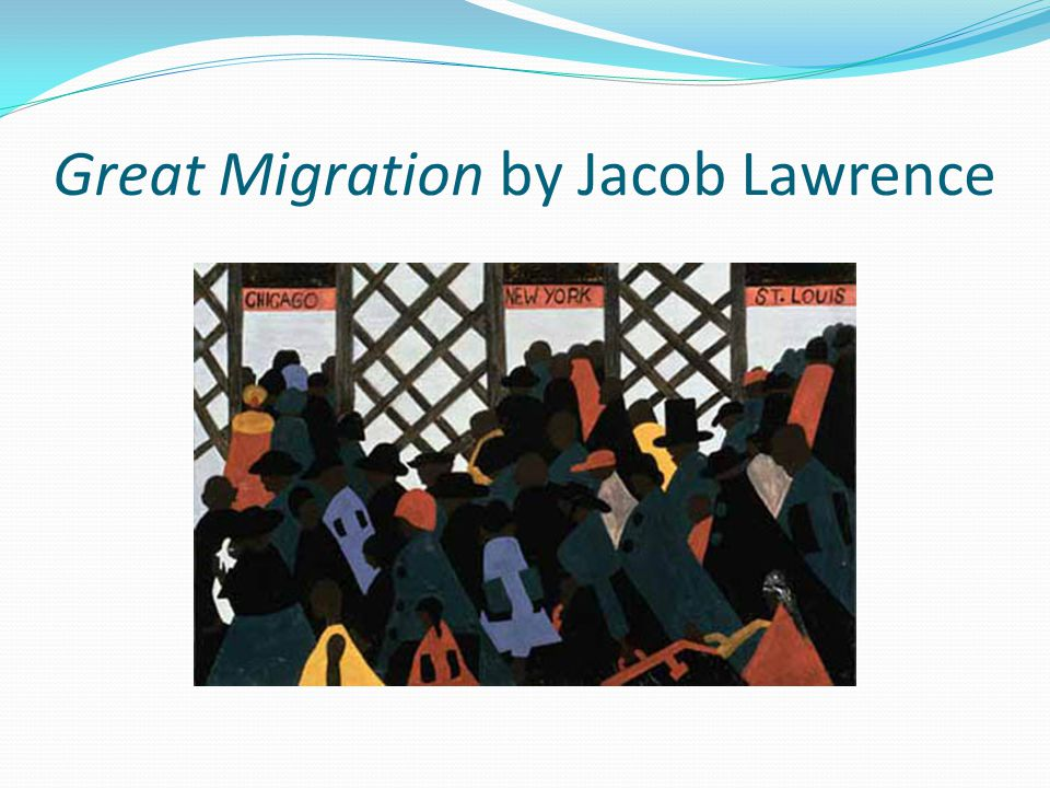 Great Migration by Jacob Lawrence