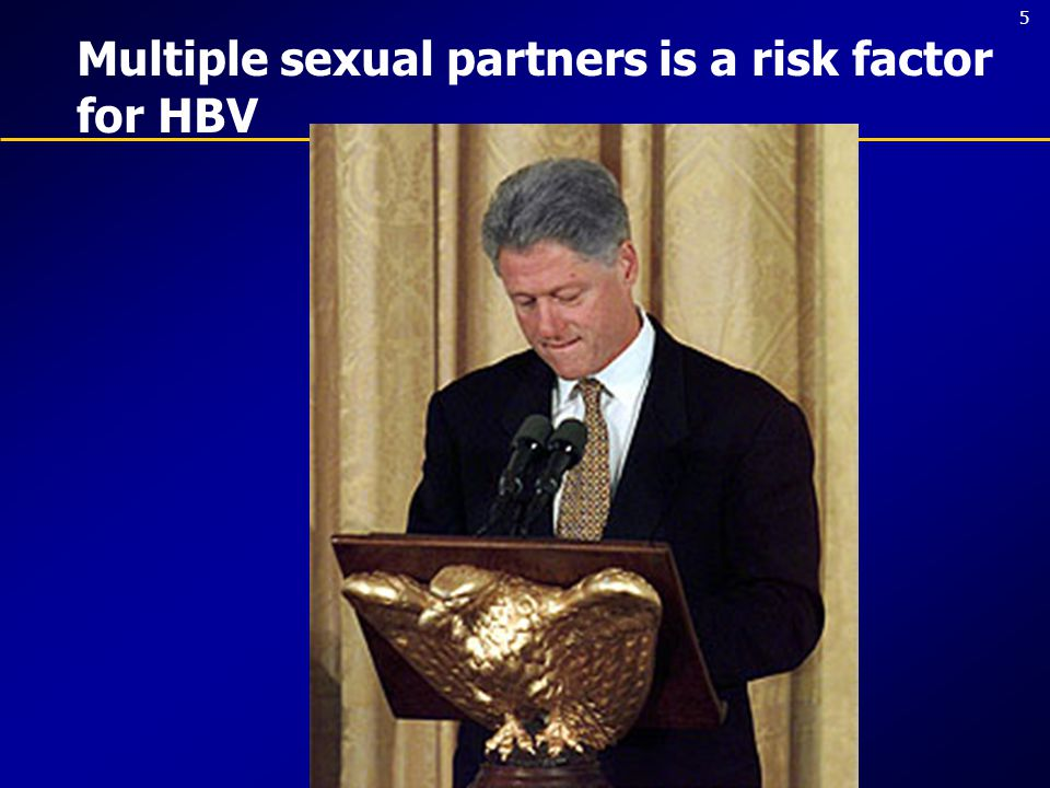 5 Multiple sexual partners is a risk factor for HBV