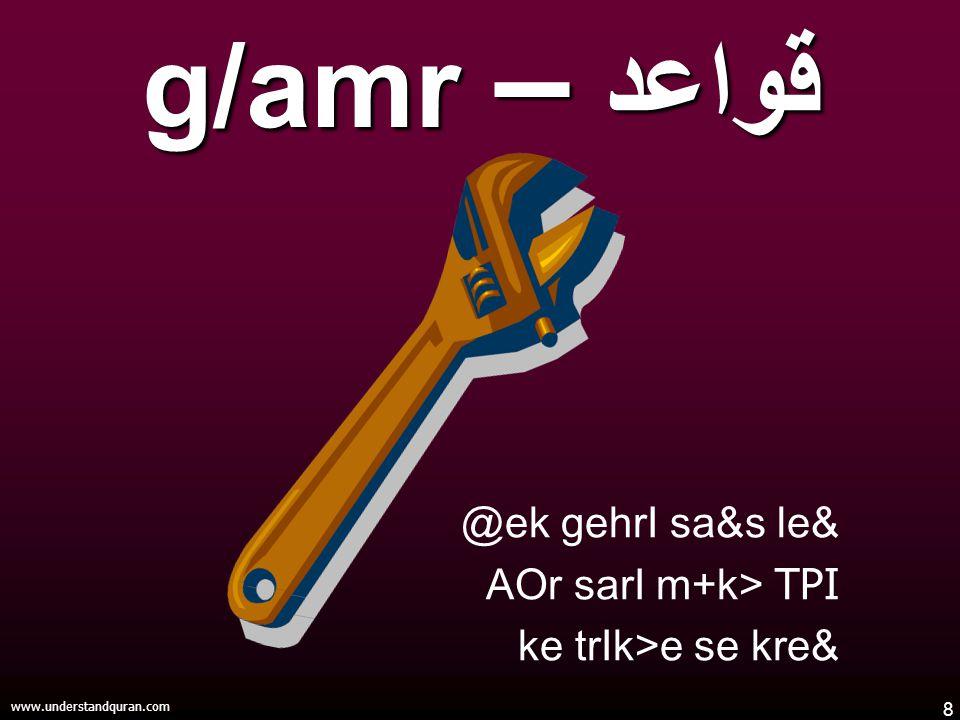 8 www.understandquran.com @ek gehrI sa&s le& AOr sarI m+k> TPI ke trIk>e se kre& قواعد – g/amr
