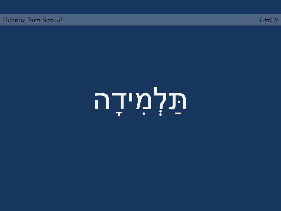תַּלְמִידָה Unit IIHebrew from Scratch
