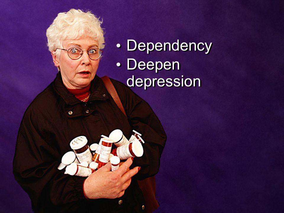 Dependency Deepen depression Dependency Deepen depression
