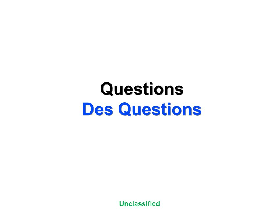 Unclassified UNCLASSIFIED//FOR OFFICIAL USE ONLY Questions Des Questions Questions Des Questions