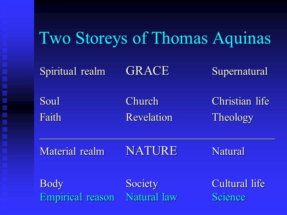 Two Storeys of Thomas Aquinas Spiritual realm GRACE Supernatural SoulChurchChristian life FaithRevelationTheology ____________________________________
