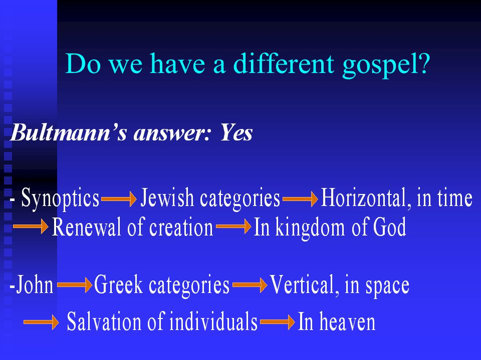 Do we have a different gospel?
