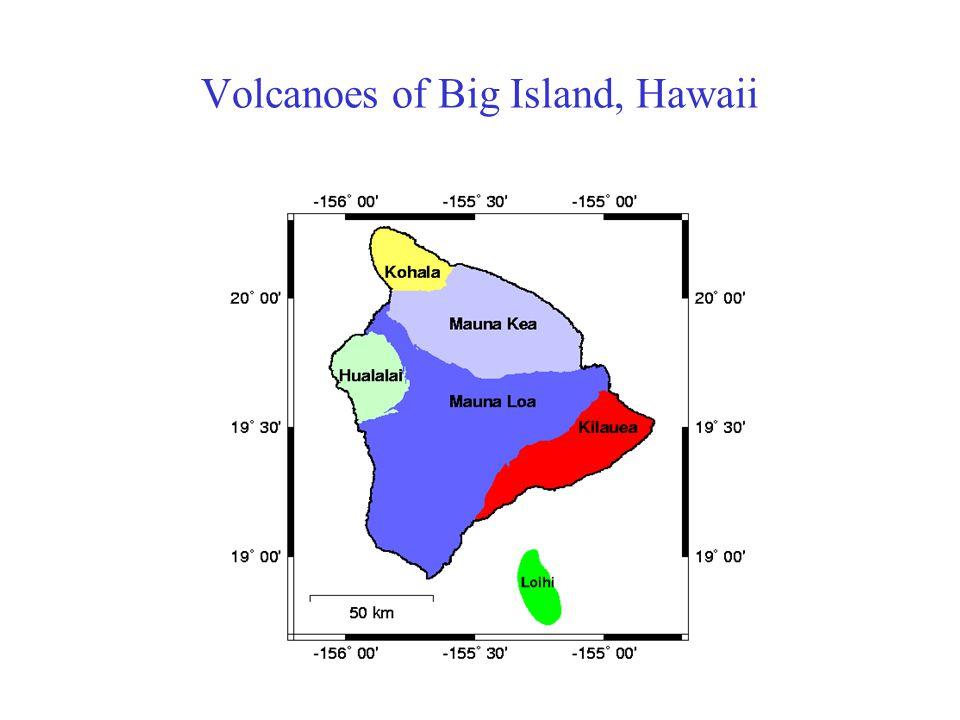 Volcanoes of Big Island, Hawaii