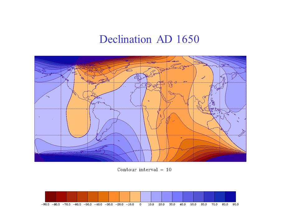Declination AD 1650