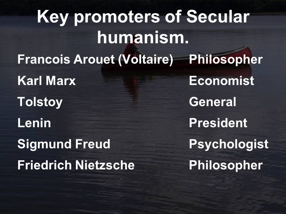 Key promoters of Secular humanism.