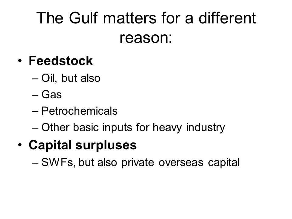 Linkages of economics and politics – are there security dimensions to the Gulf's geo- economic repositioning.