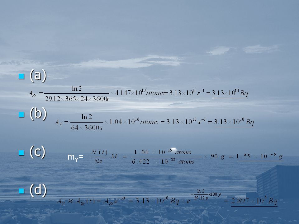 (a) (a) (b) (b) (c) (c) (d) (d) mY=mY=