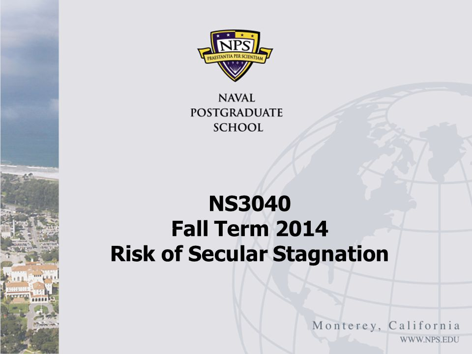 Conclusions Summing up Policy solutions to address secular stagnation – and slow growth more generally – appear few and far between The United States and EU are very unlikely to engage in the kind of strategies – particularly pubic investment that might reduce secular stagnation risk U.S.