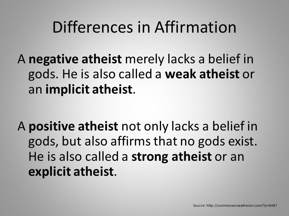 Differences in Knowledge A gnostic atheist not only believes there are no gods, he also claims to know there are no gods.