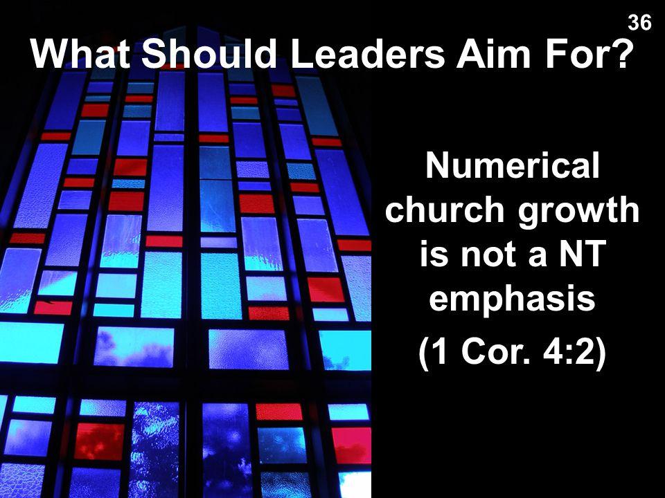 My Key Leadership Principle: 35 Preach sincerely (1 Thess. 2:10) Maintain unity (Eph. 4:1)