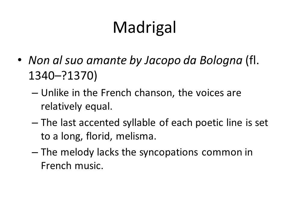 Non al suo amante by Jacopo da Bologna (fl.