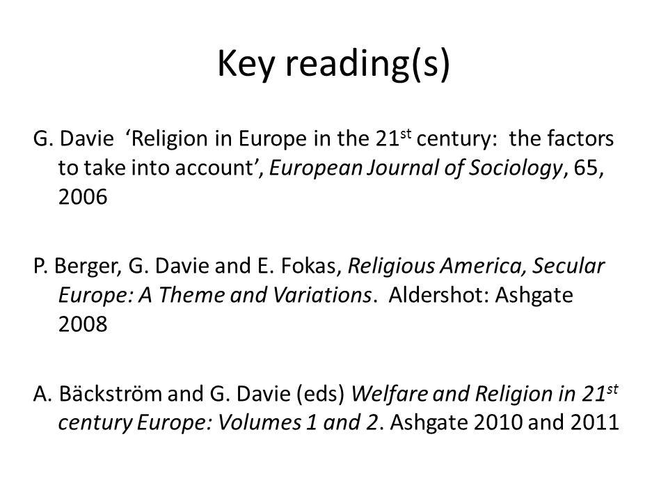 Key reading(s) G.