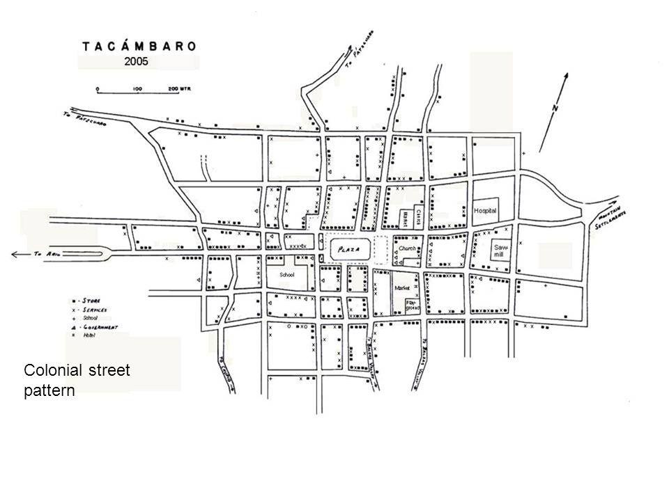 Colonial street pattern