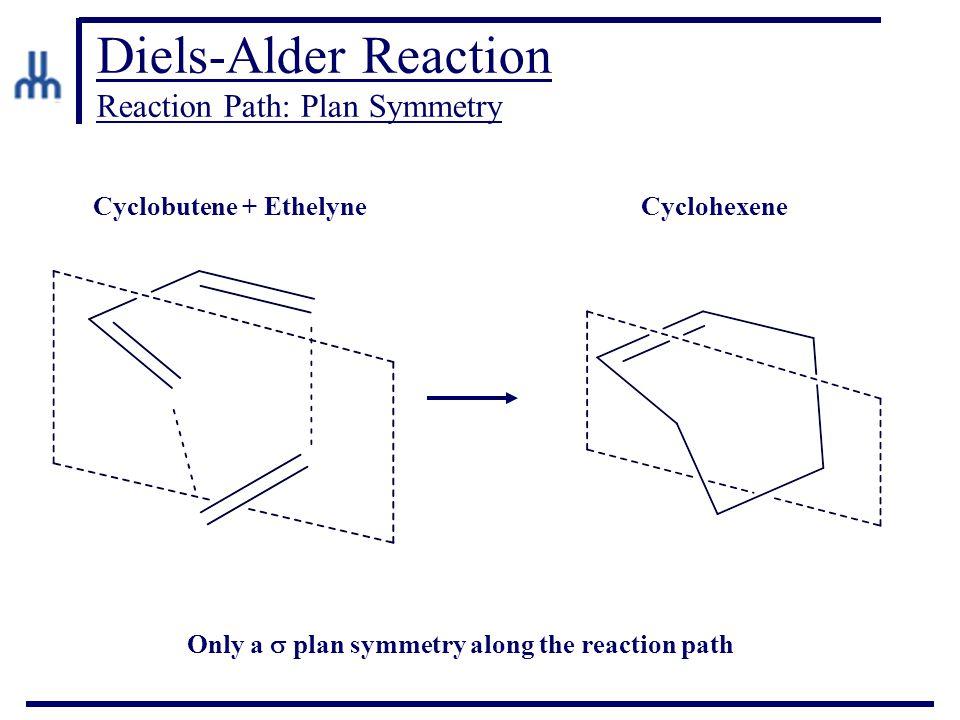 Diels-Alder Reaction Reaction Path: Plan Symmetry Cyclobutene + EthelyneCyclohexene Only a  plan symmetry along the reaction path